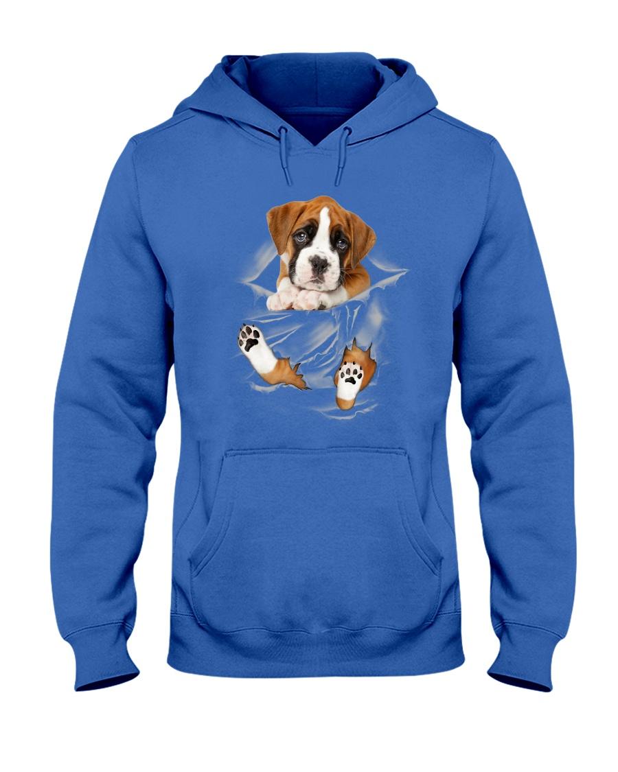 Boxer Scratches Hooded Sweatshirt