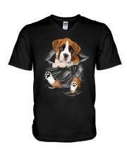 Boxer Scratches V-Neck T-Shirt thumbnail