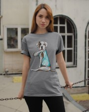 American Bulldog I Love Dad Classic T-Shirt apparel-classic-tshirt-lifestyle-19