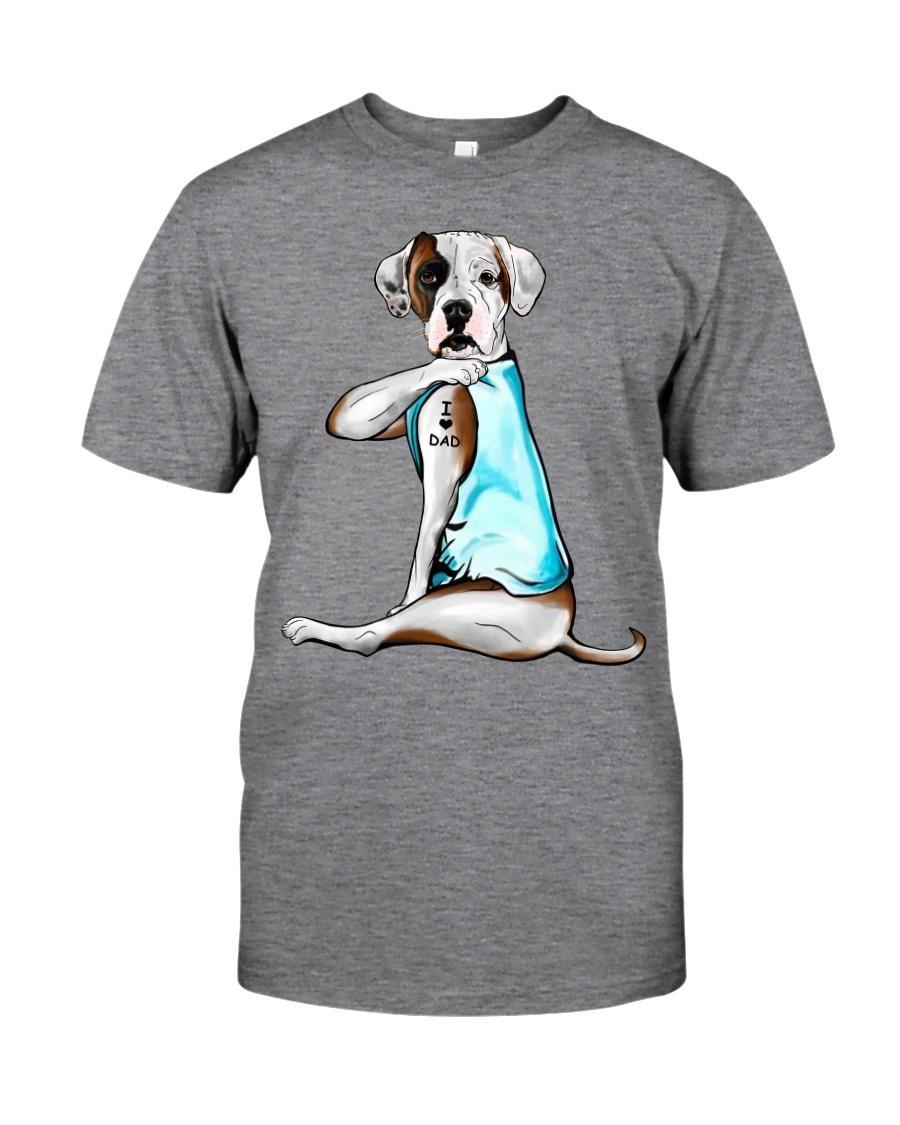 American Bulldog I Love Dad Classic T-Shirt