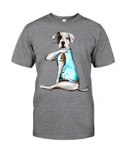 American Bulldog I Love Dad Classic T-Shirt front