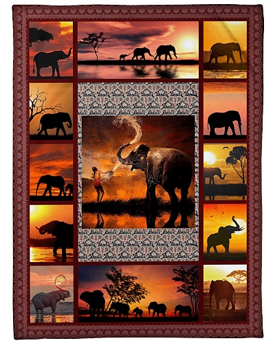 Elephant Funny Sunset Graphic Design