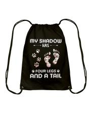 Dog My Shadow Has Four Legs Drawstring Bag thumbnail