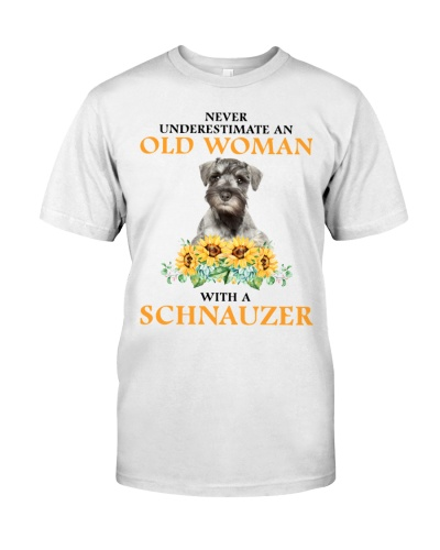 Schnauzer Never Underestimate An Old Woman