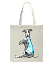 Greyhound I Love Mom Tote Bag thumbnail