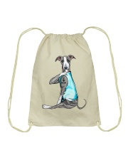 Greyhound I Love Mom Drawstring Bag thumbnail