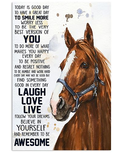 Horse Today Is A Good Day Poster