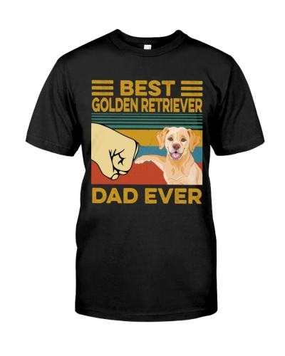 Best Golden Retriever Dad Vintage