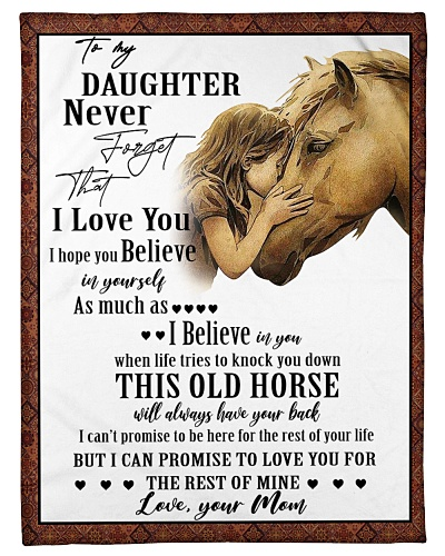 Horse To My Daughter Mom Graphic Design