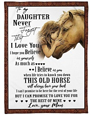 """Horse To My Daughter Mom Graphic Design Large Fleece Blanket - 60"""" x 80"""" front"""