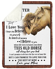 """Horse To My Daughter Mom Graphic Design Large Sherpa Fleece Blanket - 60"""" x 80"""" thumbnail"""