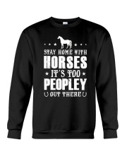 Stay Home With Horses Crewneck Sweatshirt thumbnail