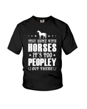 Stay Home With Horses Youth T-Shirt thumbnail