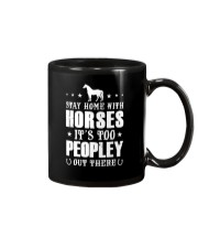 Stay Home With Horses Mug tile