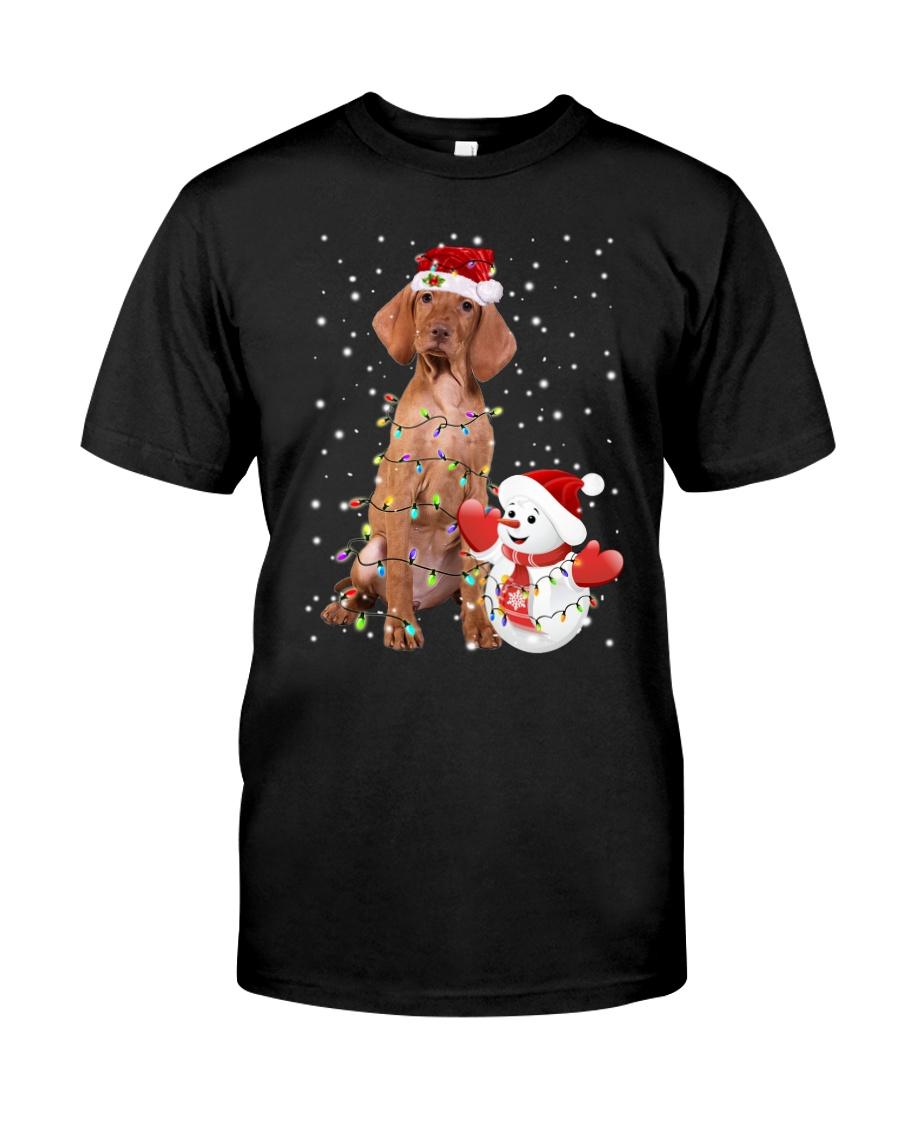 Vizsla Christmas Snowman Classic T-Shirt