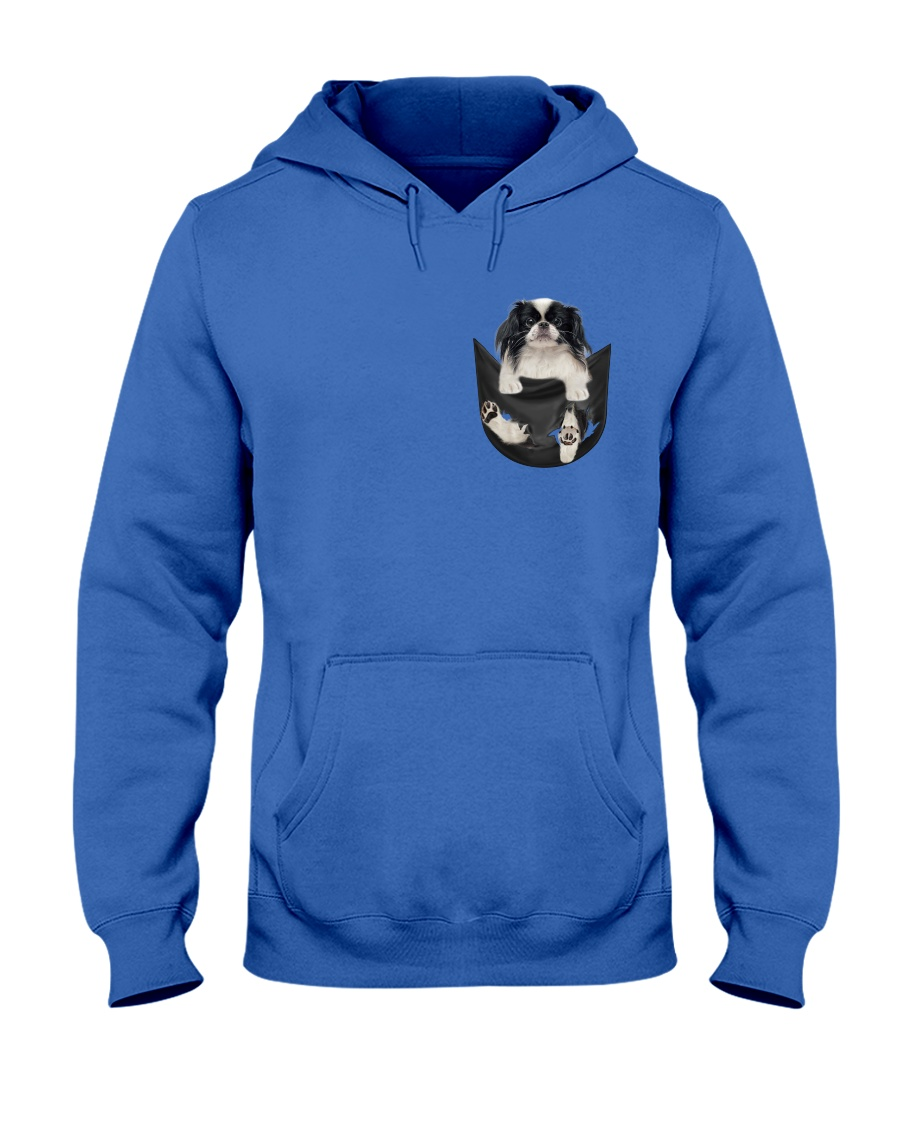 Japanese Chin Inside Pocket Hooded Sweatshirt