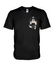 Japanese Chin Inside Pocket V-Neck T-Shirt thumbnail