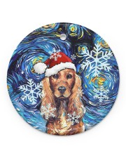 Dachshund Art Starry Night Circle ornament - single (porcelain) front