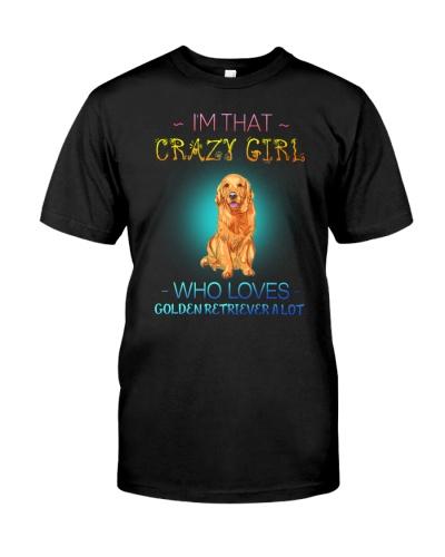 Crazy Girl Loves Golden Retriever A Lot