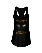 CAT - I KEEP IT ALL INSIDE Ladies Flowy Tank thumbnail
