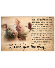Pig I Love You The Most 17x11 Poster front