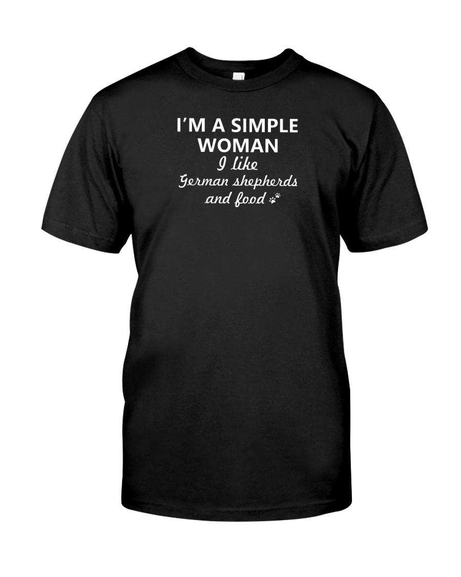 German Shepherd x Simple Woman Classic T-Shirt