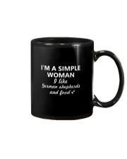 German Shepherd x Simple Woman Mug thumbnail
