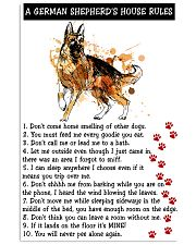 German Shepherd A House Rules 11x17 Poster front