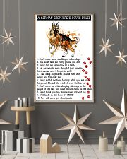 German Shepherd A House Rules 11x17 Poster lifestyle-holiday-poster-1