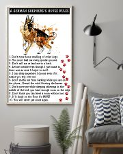 German Shepherd A House Rules 11x17 Poster lifestyle-poster-1