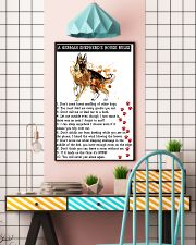 German Shepherd A House Rules 11x17 Poster lifestyle-poster-6