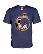 I Love My French Bulldog To The Moon and Back V-Neck T-Shirt thumbnail