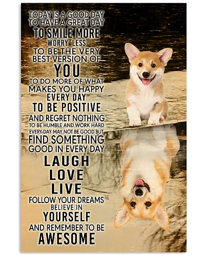 Corgi Today Is A Good Day Poster