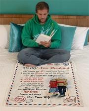 "To My Husband Test Small Fleece Blanket - 30"" x 40"" aos-coral-fleece-blanket-30x40-lifestyle-front-06"