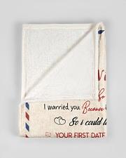 "To My Husband Test Small Fleece Blanket - 30"" x 40"" aos-coral-fleece-blanket-30x40-lifestyle-front-17"
