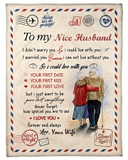 """To My Husband Test Small Fleece Blanket - 30"""" x 40"""" front"""