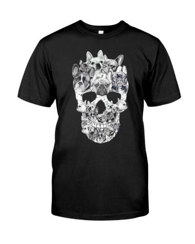 French Bulldogs Skull