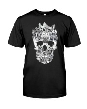 French Bulldogs Skull Classic T-Shirt front