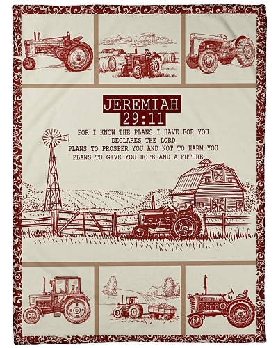 Tractor Funny Blanket Jeremiah Graphic Design