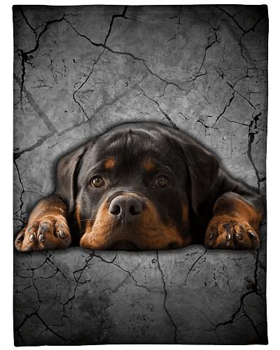 Rottweiler Funny Blanket Lying Graphic Design