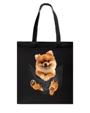 Pomeranian In Pocket Tote Bag thumbnail