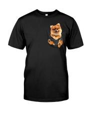 Pomeranian In Pocket Classic T-Shirt thumbnail