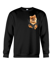 Pomeranian In Pocket Crewneck Sweatshirt thumbnail