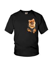 Pomeranian In Pocket Youth T-Shirt thumbnail