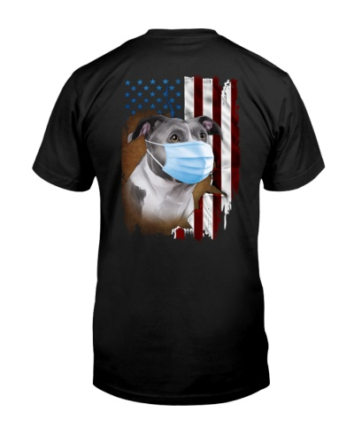 Pitbull Grey US Flag