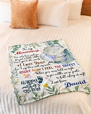 """To My Mummy I've Only Been With You Blanket Small Fleece Blanket - 30"""" x 40"""" aos-coral-fleece-blanket-30x40-lifestyle-front-01"""