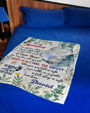 """To My Mummy I've Only Been With You Blanket Small Fleece Blanket - 30"""" x 40"""" aos-coral-fleece-blanket-30x40-lifestyle-front-02"""