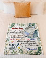 """To My Mummy I've Only Been With You Blanket Small Fleece Blanket - 30"""" x 40"""" aos-coral-fleece-blanket-30x40-lifestyle-front-04"""