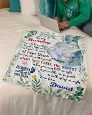 """To My Mummy I've Only Been With You Blanket Small Fleece Blanket - 30"""" x 40"""" aos-coral-fleece-blanket-30x40-lifestyle-front-07"""