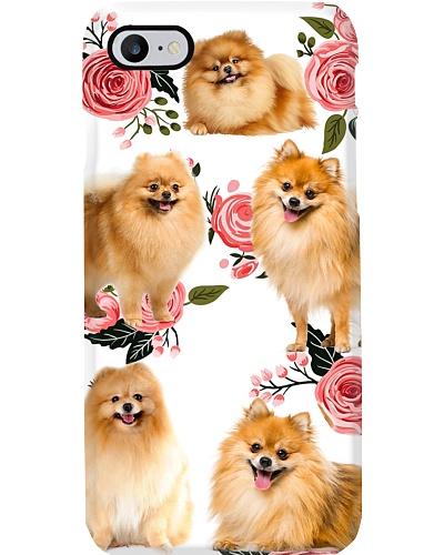 Pomeranian Beauty Flower Phone Case